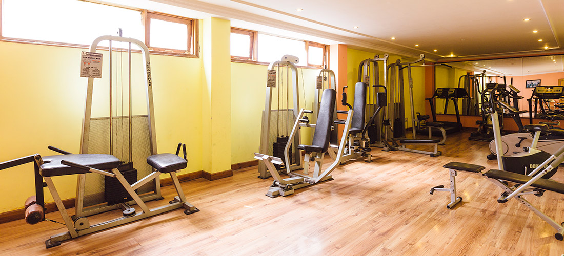Well equipped gym at best hotel in shimla